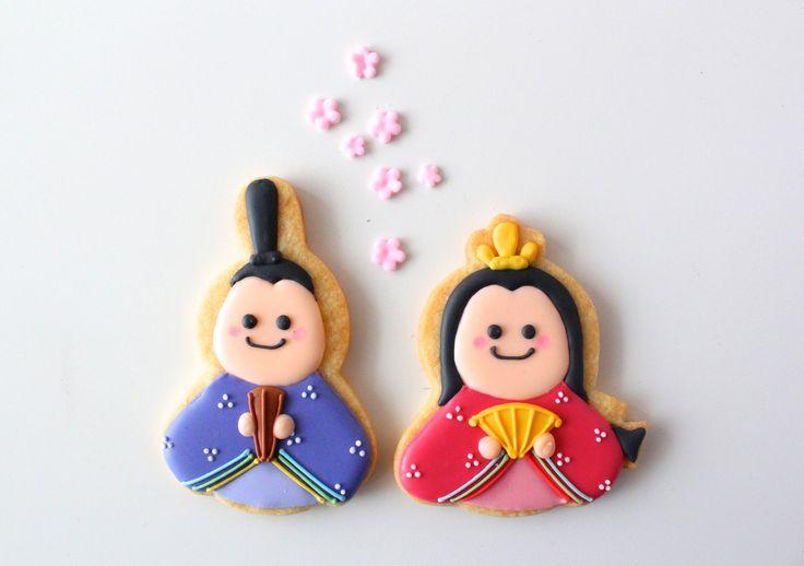 Hinamatsuri icing cookies.(Japanese Girls' Day), 3 Mar.