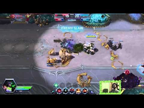 Heroes of the Storm / Funny shotgun kill with Sgt. Hammer