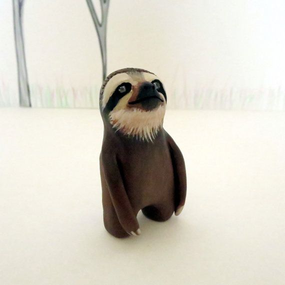 Reserved Polymer Clay Animals Cute Sloth Clay Animals