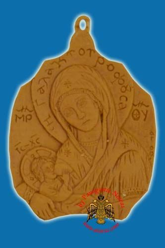 Icon from BeeWax Panagia Galaktotrofousa