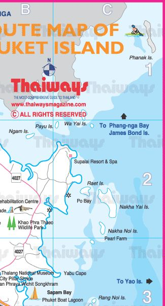 Map of Phuket Island by Thaiways