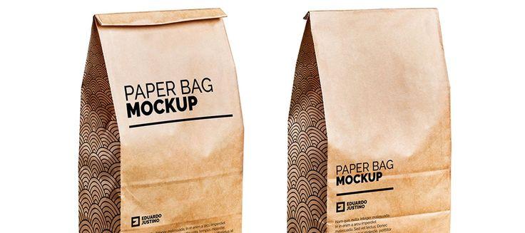 Paper Bag Package .PSD Mockup