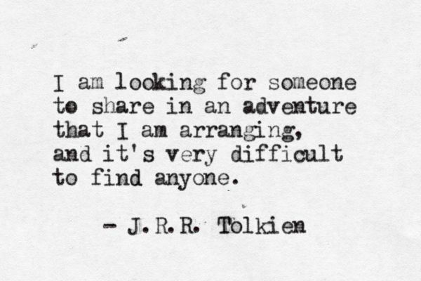 J.R.R. Tolkien, 'The Hobbit' ...... anyone for an adventure?