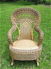 Child's Natural Victorian Wicker Rocker Heywood Brothers and Wakefield Company