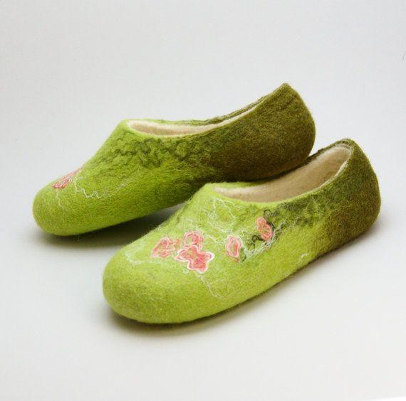Felted slippers Verdure by Eidrasa on Etsy, $73.00