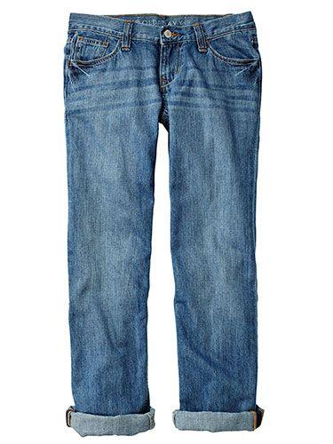 Best Jeans For Body Type - boyfriend jeans. Lucky Brand Sienna Crop. luckybrand.com via www.redbookmag.com