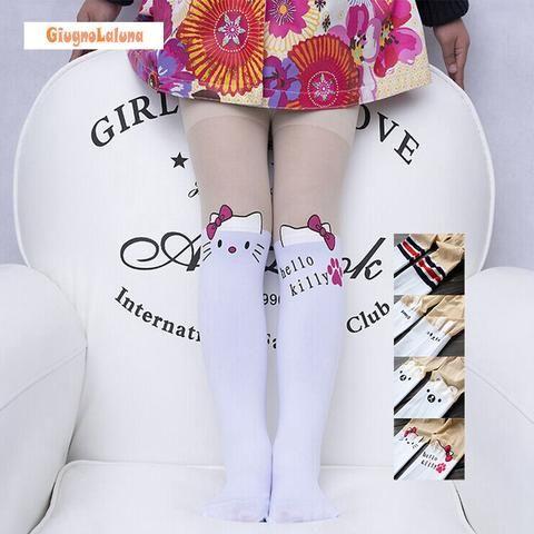 Baby Girl's Tights Pantyhose Fashion Cartoon Patchwork High Quality Kitty Bear Cute Children Girls Kids Stockings Tights LHH012