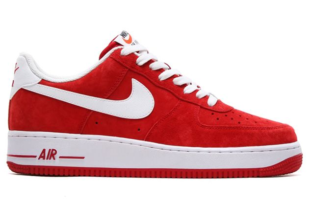 Nike Air Force 1 Suede Pack Gym Red / White
