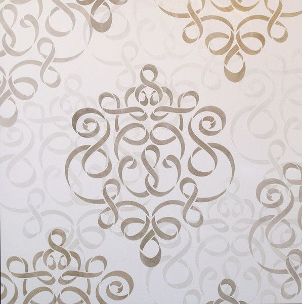large wall stencil ribbon damask stencil royal design studio - Design Stencils For Walls