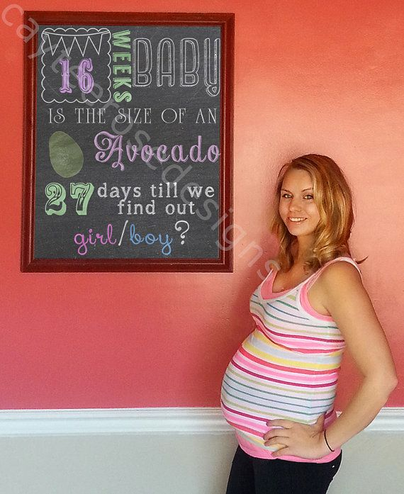 10 week pregnancy announcement chalkboard package