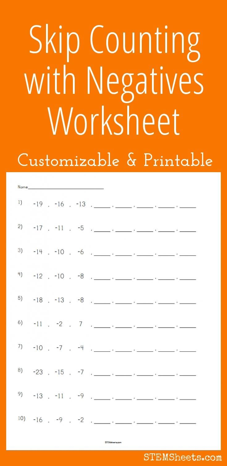 worksheet Double Negative Worksheets 1000 ideas about negative numbers worksheet on pinterest skip counting with negatives customizable and printable