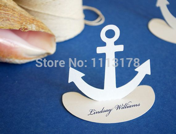 Anchor Nautical Place Cards Set of 30-in Event & Party Supplies from Home & Garden on Aliexpress.com | Alibaba Group