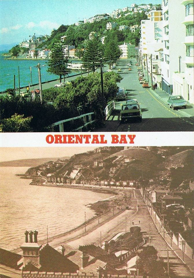 Oriental Bay, 1900 and 1980s -  Old Wellington Region 16 May 2016