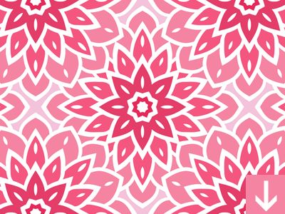 Pink Flower Seamless Pattern by Download Pattern