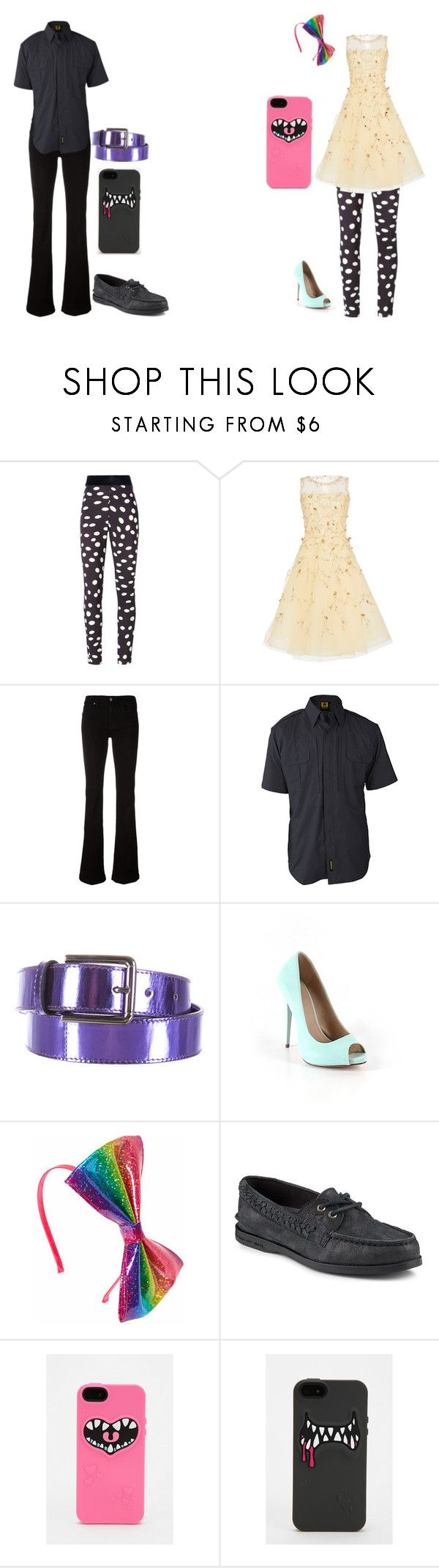 """""""Girly Girl vs Tomboy: 2nd signature outfits"""" by sierra-ivy on Polyvore featuring Emanuel Ungaro, Oscar de la Renta, 7 For All Mankind, Propper, Ports 1961, ASOS and Sperry"""