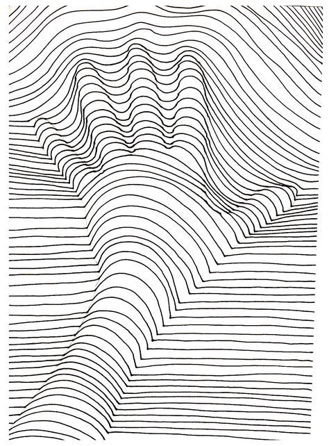 A hand that seems out of the drawing ! From the gallery : Op Art
