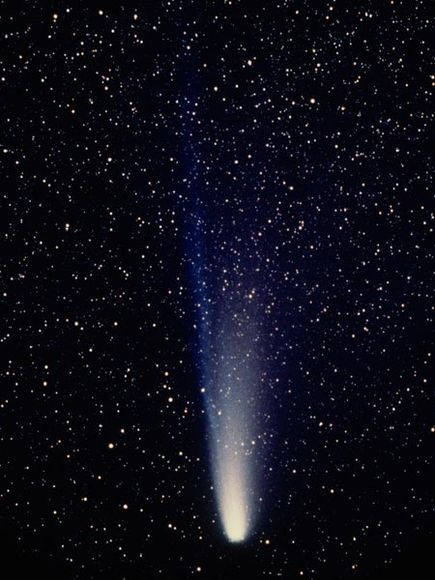 Halley's Comet. Photograph by James Balog in 1986. The return of Halley's Comet in my lifetime was not as spectacular as it was in 1910. I did not see it myself, the weather was overcast  for most of the period it could be seen in my part of the world.