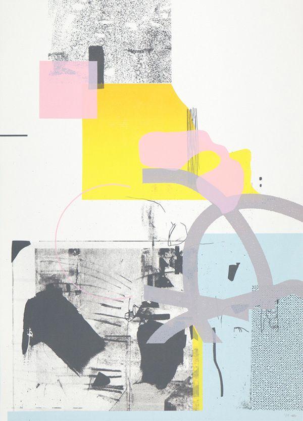 Damien Tran - Untitled 08 Screenprint 50 x 70 cm 5 colors Edition of 15 2014