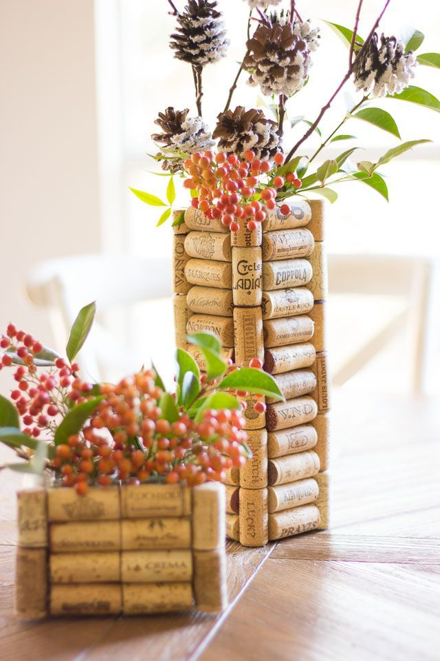 Thrifty DIY: Wine Cork Vases | Design Improvised