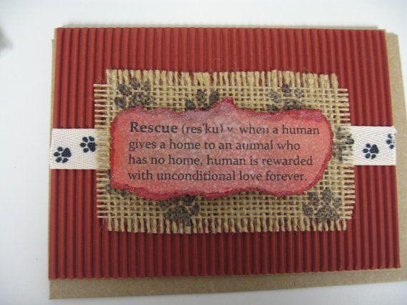 pet rescue card pet adoption card cat adoption card dog