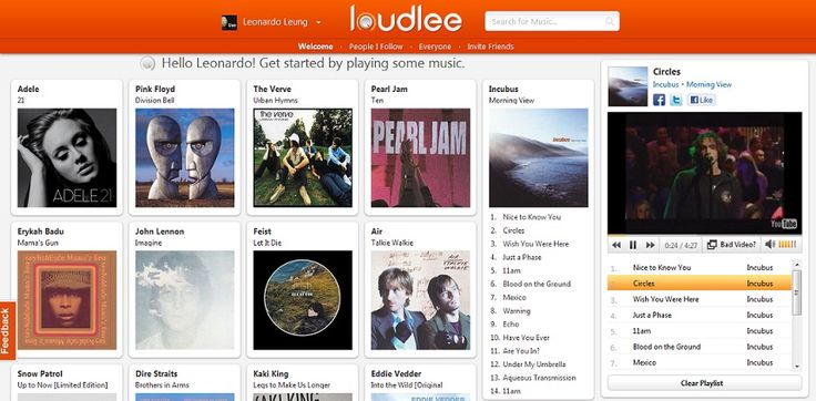 Loudlee, Pinterest in music domain. (I'm going to try today!)