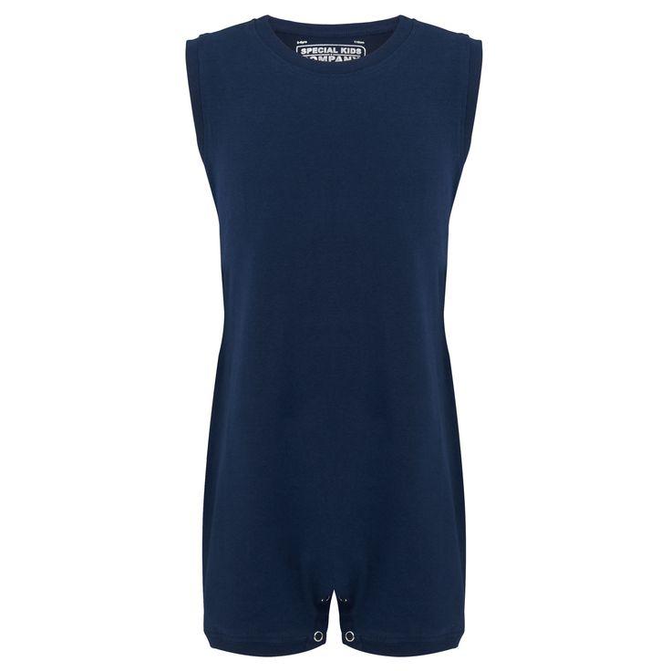 KayCey SUPER SOFT Bodysuit - Sleeveless - NAVY |  http://specialkids.company/