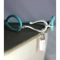 Personalised Leather and Silver Charm Bracelet- Turquoise as featured in @Wedding Ideas Magazine