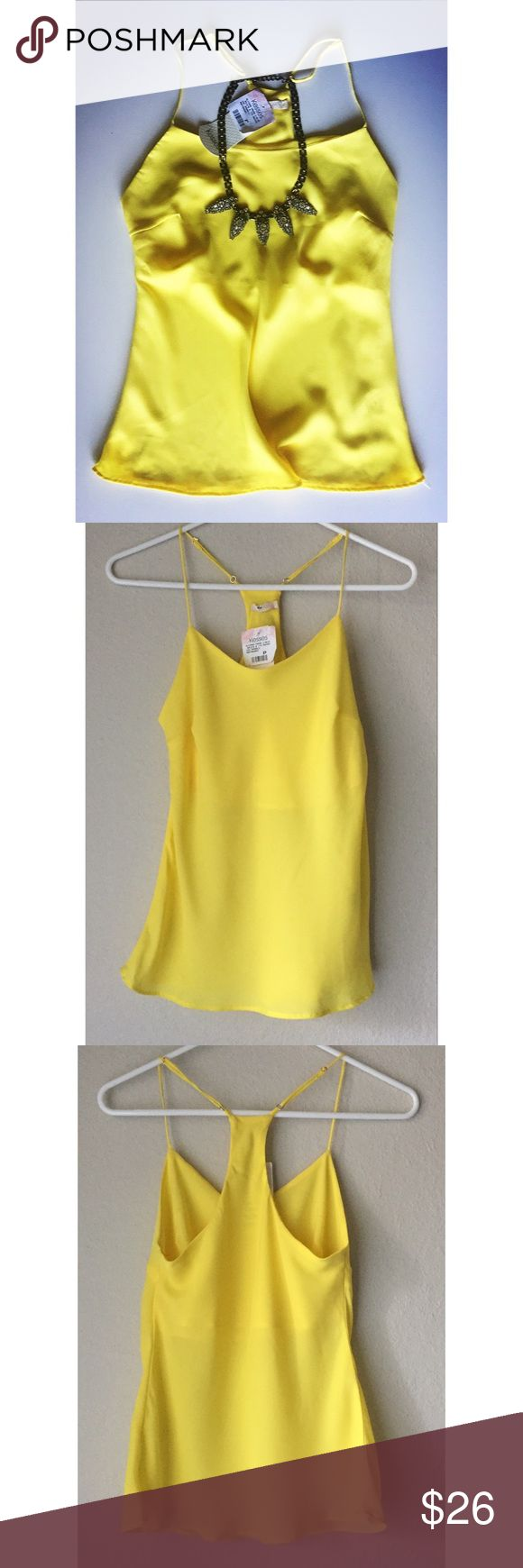 Kesses Yellow Cami Beautiful yellow camisole. Lining on bust area. Brazilian brand. New. Kesses Tops Camisoles