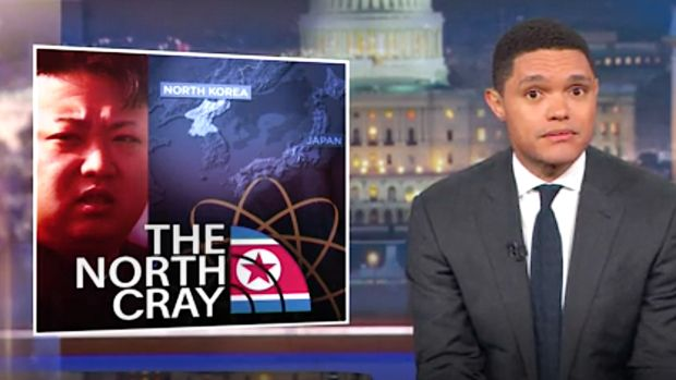 Trevor Noah Reveals The 'Genius' Behind Donald Trump's North Korea Strategy http://www.huffingtonpost.com/entry/trevor-noah-donald-trump-north-korea_us_59afa1a4e4b0354e440d9993?utm_hp_ref=donald-trump