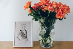 Stylish Frame Mockup and Flowers - Creative Fabrica