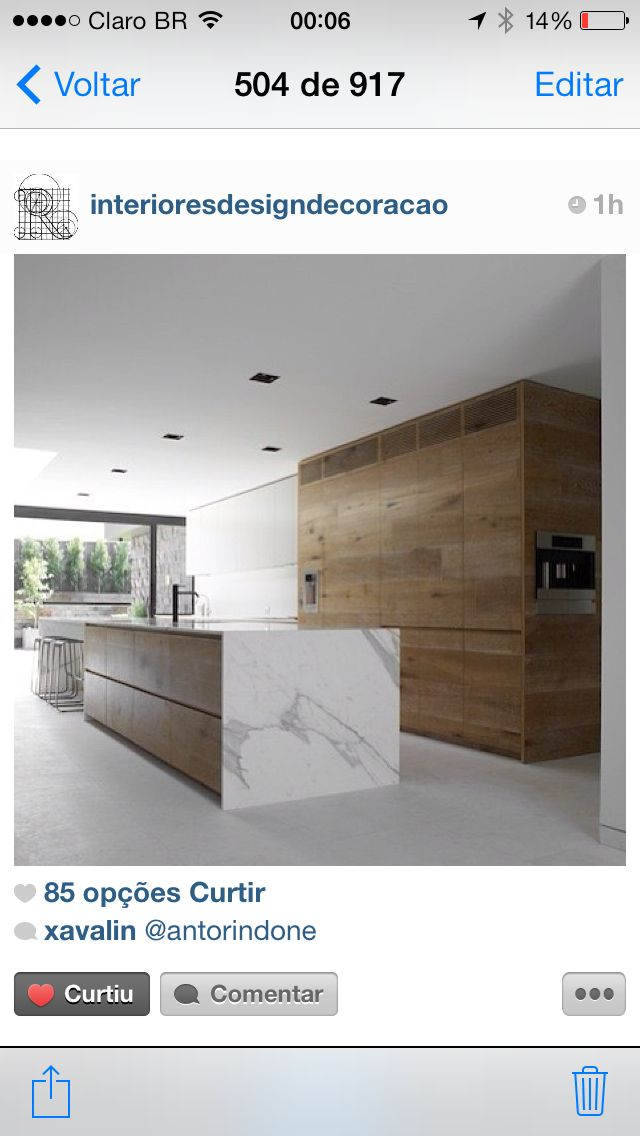Wood and white marble kitchen inside the dale project by australian architects robson rak i love a marble and wood kitchen