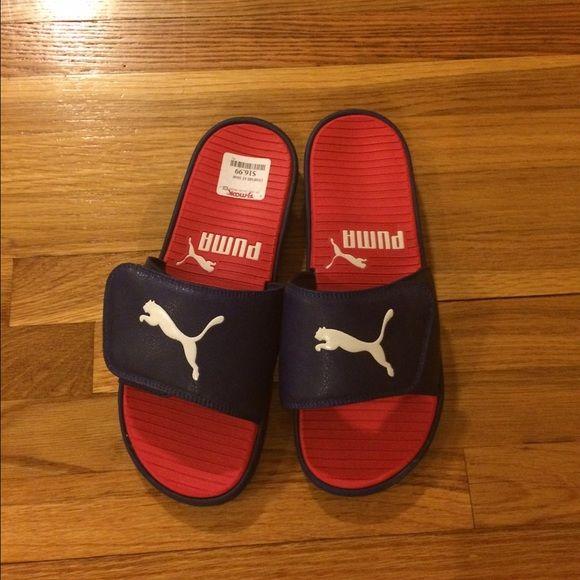 Puma sandals Mens puma sandals brand new. Adjustable Velcro closure. Puma Shoes Sandals