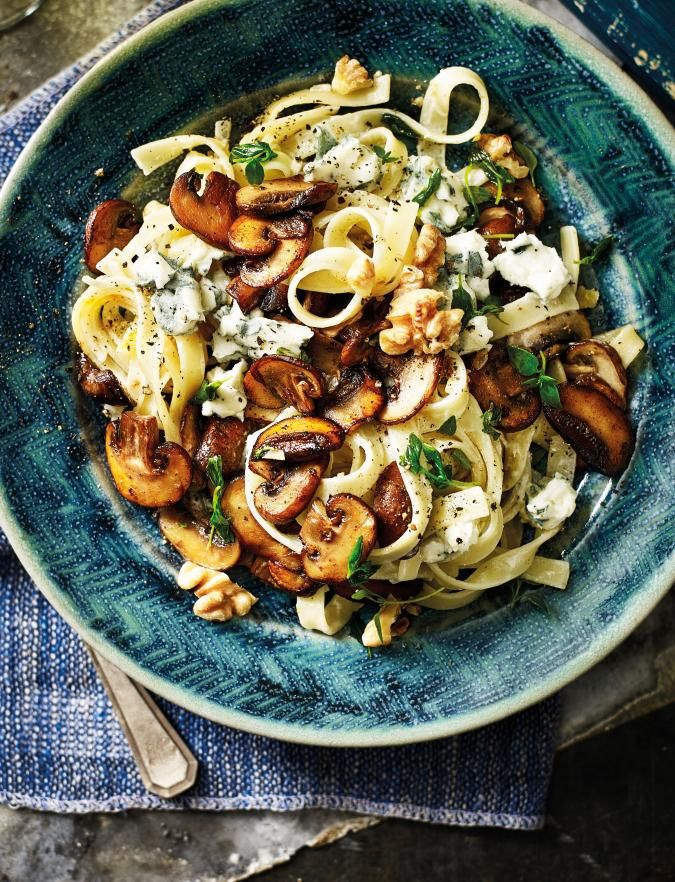 Mushroom And Thyme Tagliatelle Recipe Pasta Dishes Healthy