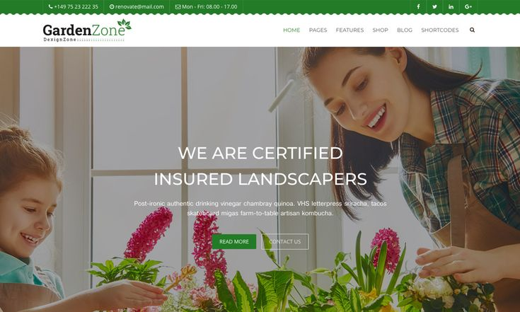 #Theme Of The 28 Feb 2018 GardenZone: Gardening For Flowers, Fruits, Vegetable Planting & Landscaping Responsive Template by @dexignzone  https://www.designnominees.com/themes/gardenzone-gardening-for-flowers-fruits-vegetable-planting-landscaping-responsive-template