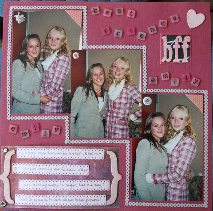 122 Best Images About Friendship Scrapbooking On Pinterest