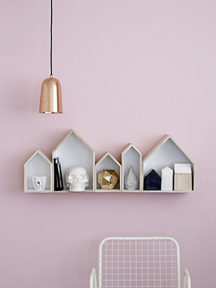 Leuke opbergboxen in de vorm van huisjes! #wall #decoration