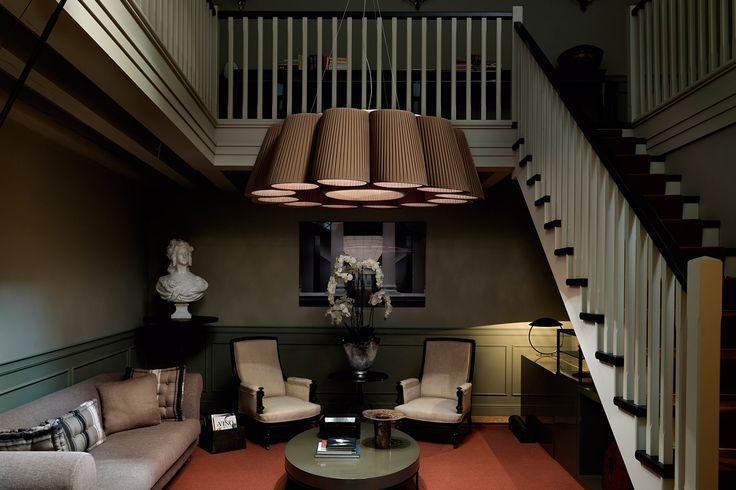Florinda velké závěsné svítidlo do interiéru v hnědé barvě / ceiling light