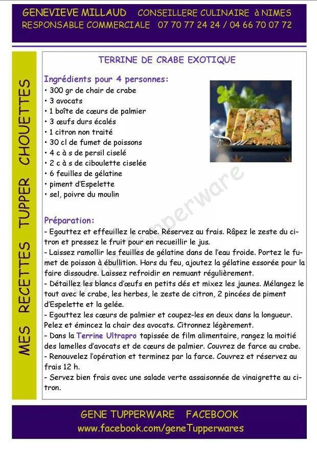 Tupperware - Terrine de crabe exotique
