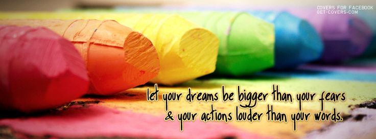 let your dreams be bigger than your fears & your actions louder than your words.