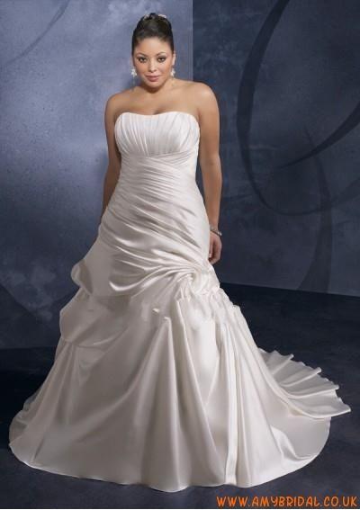 Plus Size Asymmetrical Wedding Dresses