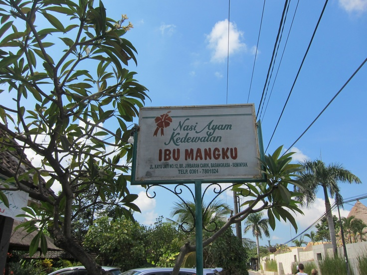 "Stop and try the authentic version of Nasi Campur here at ""Ibu Mangku"" along Seminyak, Bali"