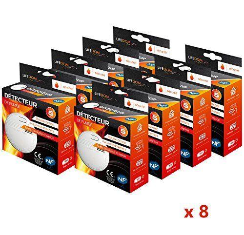 Lifedom - Détecteur de fumée NF & EN14604- Garantie 5 et livré avec pile et accessoires (8): Cet article Lifedom - Détecteur de fumée NF &…