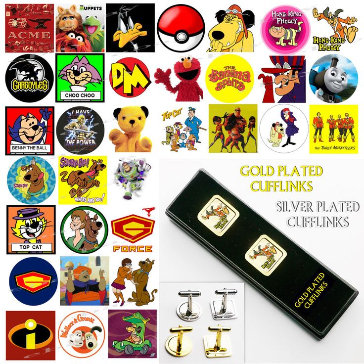 CLASSIC CARTOON CHARACTERS - Stylish GOLD / SILVER Plated CUFFLINKS NEW - Boxed  | eBay