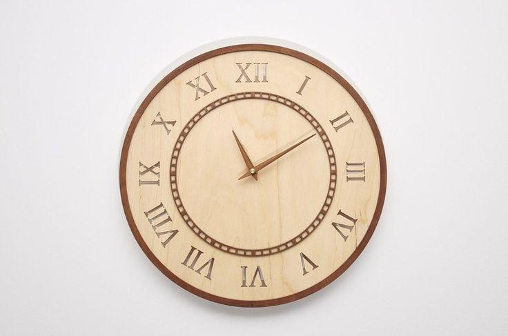 Nowoczesny prezent ażurowy zegar ścienny RJ w NIUS SHOP na DaWanda.com