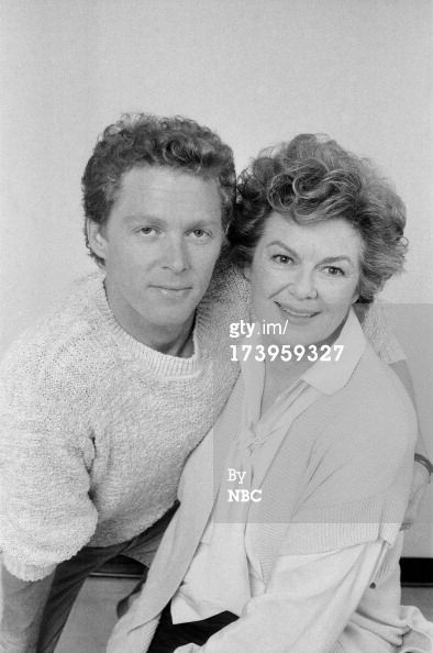 "Barbara Hale/Della Street with son William Katt ""Perry Mason Returns"""