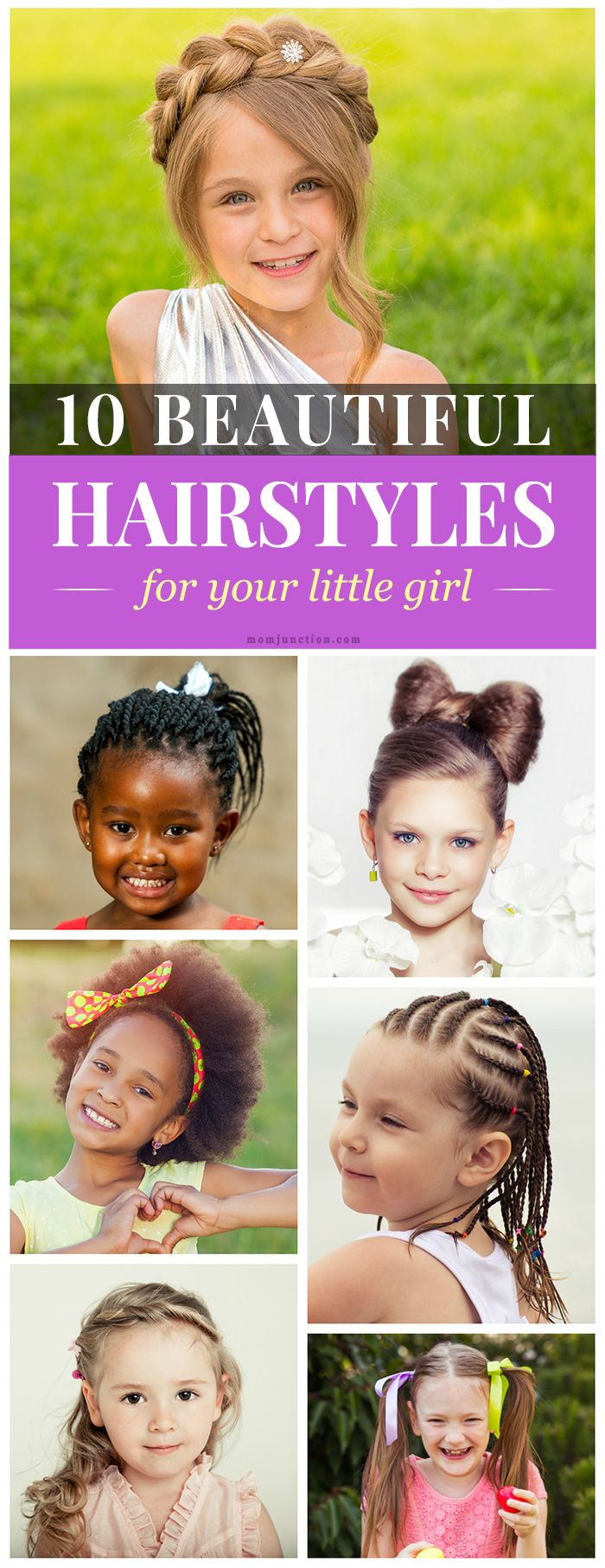 19 Super Easy Hairstyles For Girls | Baby hairstyles, Baby girl hairstyles, Little girl hairstyles