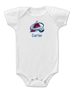 9 best colorado avalanche baby gifts images on pinterest babies of all sizes can wear their personalized colorado avalanche bodysuit with pride and show their negle Choice Image