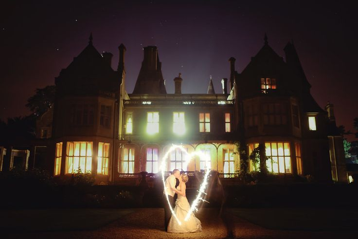We love this stunning sparkler shot of the newly wed Mr & Mrs Watts in front on Orchardleigh House! Perfect!