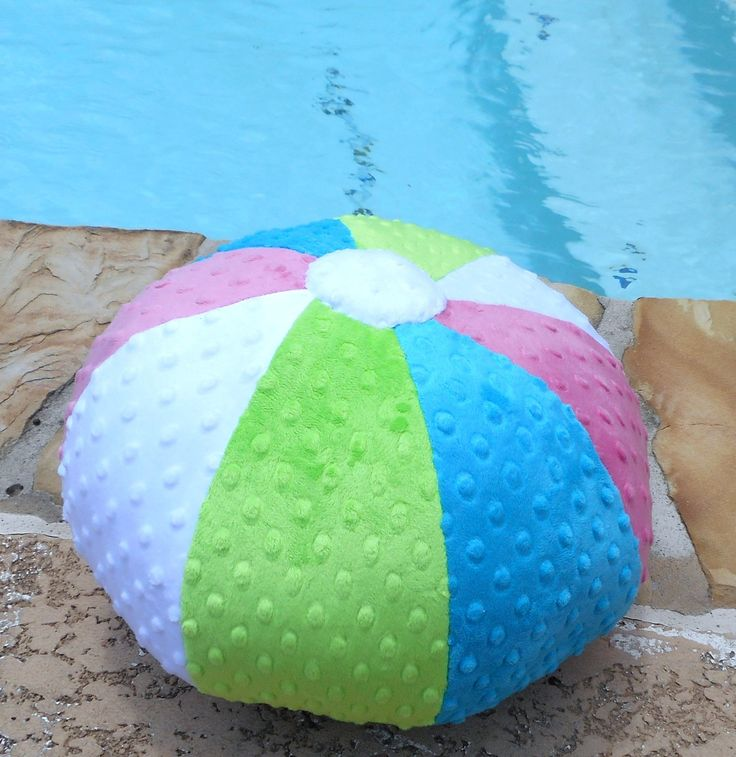 beach ball pillow minky dot beach ball colorful beach ball beach pillows fun pillow seashore pillow coastal living pillow nautical