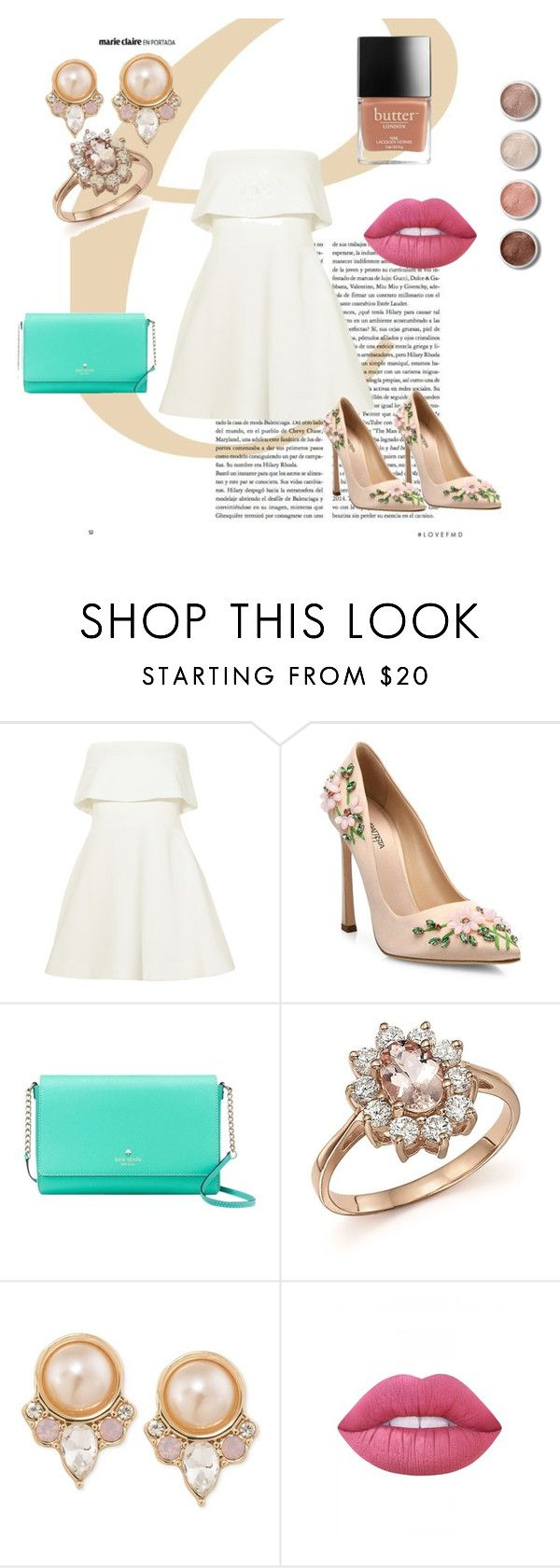 """""""just classic"""" by valentinacabarcasgs-1 on Polyvore featuring moda, Elizabeth and James, Giambattista Valli, Kate Spade, Bloomingdale's, Carolee, Lime Crime y Terre Mère"""